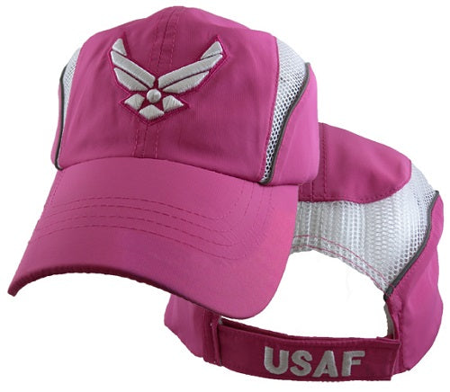 Air Force - Embroidered Cap - Bright Pink and White w/HAP (Performance style)