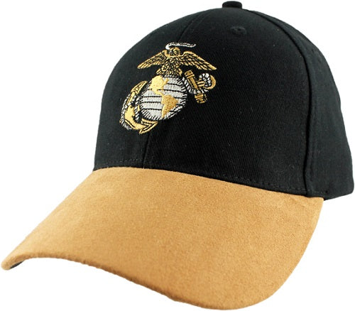 Marines - Embroidered Cap - Eagle Globe and Anchor (Suede)