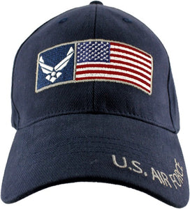 Air Force - Embroidered Cap -U.S. Air Force w/HAP and Flag