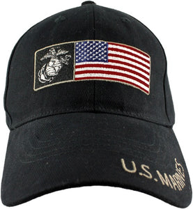 Marines - Embroidered Cap - U.S. Marines (American Flag)