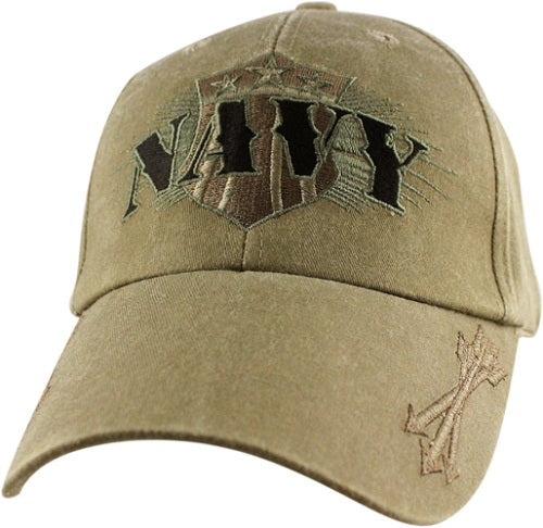 Navy - Extreme Embroidered Cap - NAVY w/Shield and Arrows