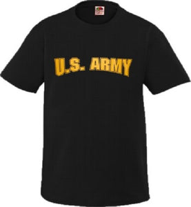 Army - Short Sleeve T-Shirt - U.S. ARMY (Yellow) - Size XL