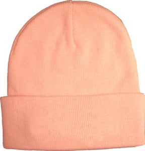 Knit Watch Cap - Pink