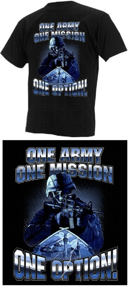 Army - Short Sleeve T-Shirt -One Army One Mission - Size XL