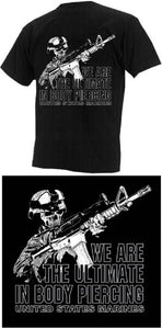 Marines - Short Sleeve T-Shirt - Body Piercing - Size XL