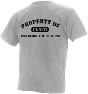 Short Sleeve T-Shirt - Property of USS George H.W. Bush - Size XXL