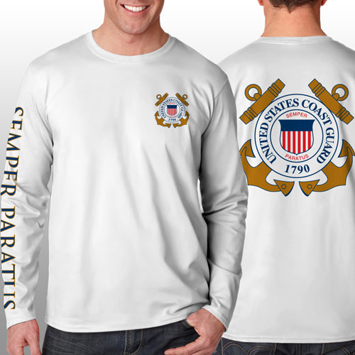 Coast Guard - Long Sleeve Cool-N-Dry Shirt - U.S. Coast Guard - Size XL