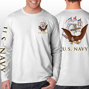 Navy - Long Sleeve Cool-N-Dry Shirt - U.S. Navy - Size XL