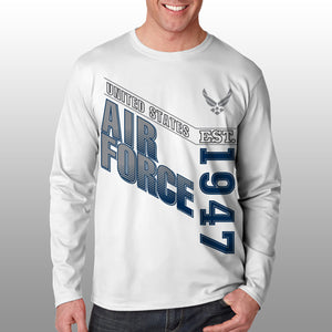 Air Force - Long Sleeve Cool-N-Dry Shirt - United States Air Force - Size L