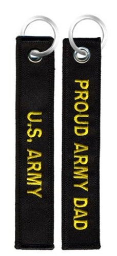 Army - Embroidered Keychain - Proud Army Dad
