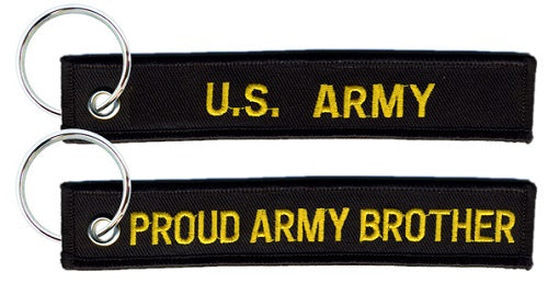 Army - Embroidered Keychain - Proud Army Brother