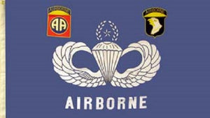 Flag - Airborne w/Wings
