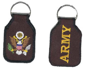 Army - Embroidered Keychain w/Eagle