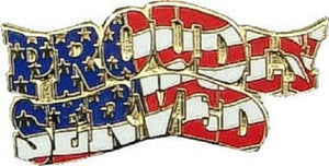 Lapel Pin - Proudly Served