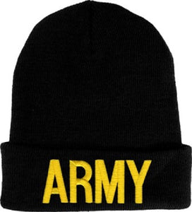 Army - Embroidered Watch Cap - ARMY (Gold)