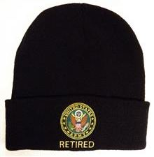 Army - Embroidered Watch Cap - U.S. Army Retired