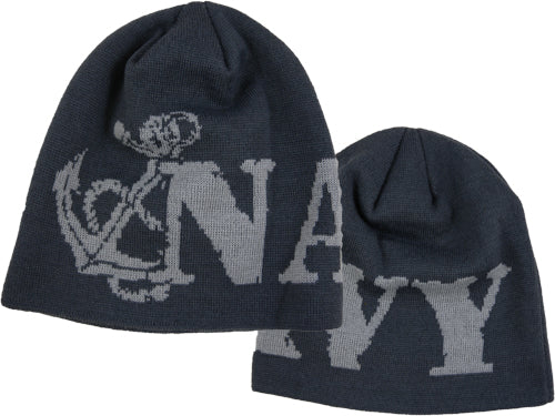 Navy - Woven Watch Cap - Navy w/Anchor