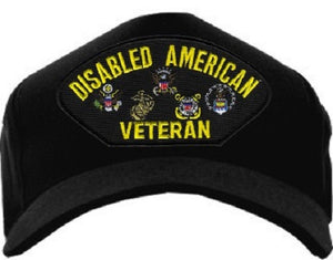Embroidered Cap - Disabled American Veteran (Snap Closure)