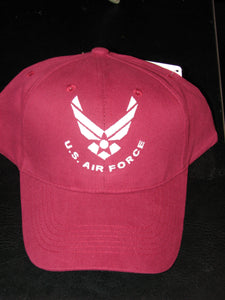 Air Force - Embroidered Cap - U.S. Air Force w/HAP (Maroon)