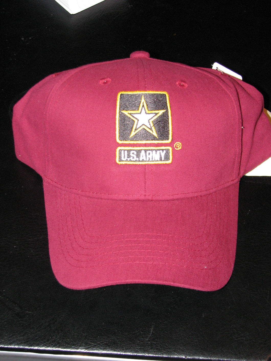 Army - Embroidered Cap - U.S. Army w/Star (Maroon)