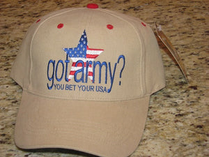 Army - Embroidered Cap - Got Army? (Style 3)