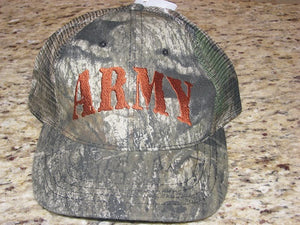 Army - Embroidered Cap - ARMY Camo (Mesh/Velcro Closure)