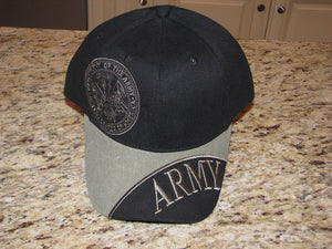 Army - Embroidered Cap -ARMY w/Department of the Army emblem