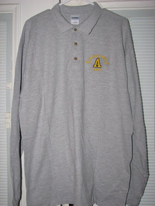 Army - Polo Shirt Long Sleeve - U.S. Army Est. 1775 (Gray) - Size L