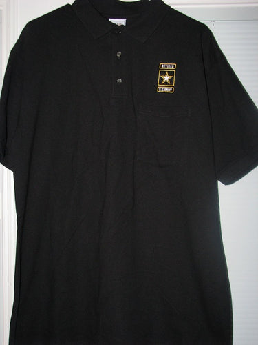 Army - Polo Shirt - U.S. Army Retired Emblem - Size L