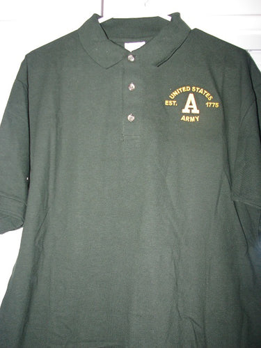 Army - Polo Shirt - U.S. Army Est. 1775 - Size L