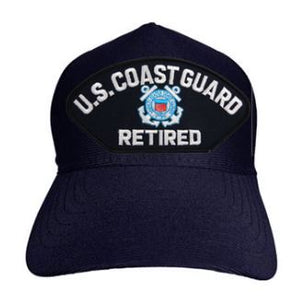 Coast Guard - Embroidered Cap - U.S. Coast Guard Retired (White lettering)