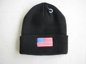 Watch Cap - Embroidered Watch Cap - American Flag