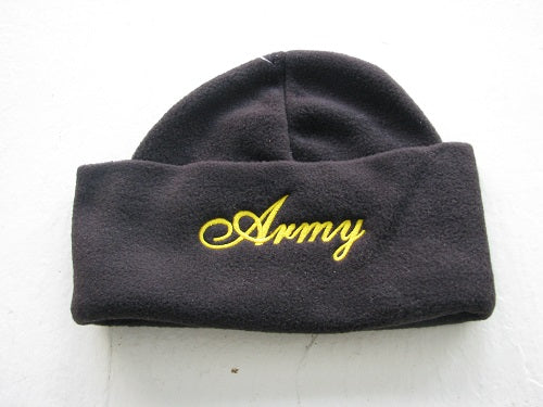 Army - Embroidered Watch Cap - Army in script