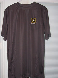 Army - Dri Fit Shirt - U.S. Army w/Star (Dark Gray) - Size L