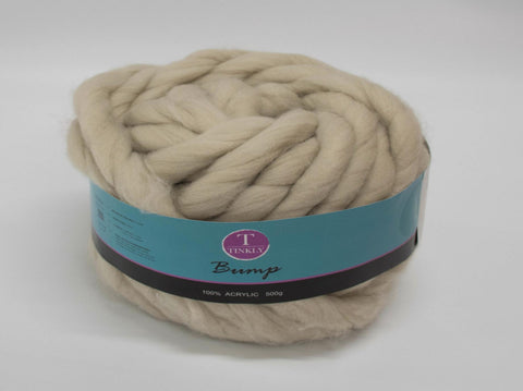 500g BUMP YARN LIGHT BEIGE