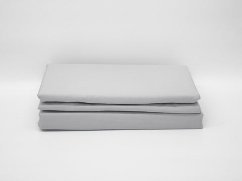 DOUBLE 180TC PERCALE DUVET COVER GREY