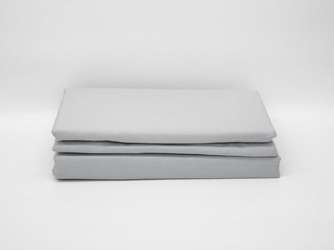 QUEEN 180TC PERCALE DUVET COVER GREY