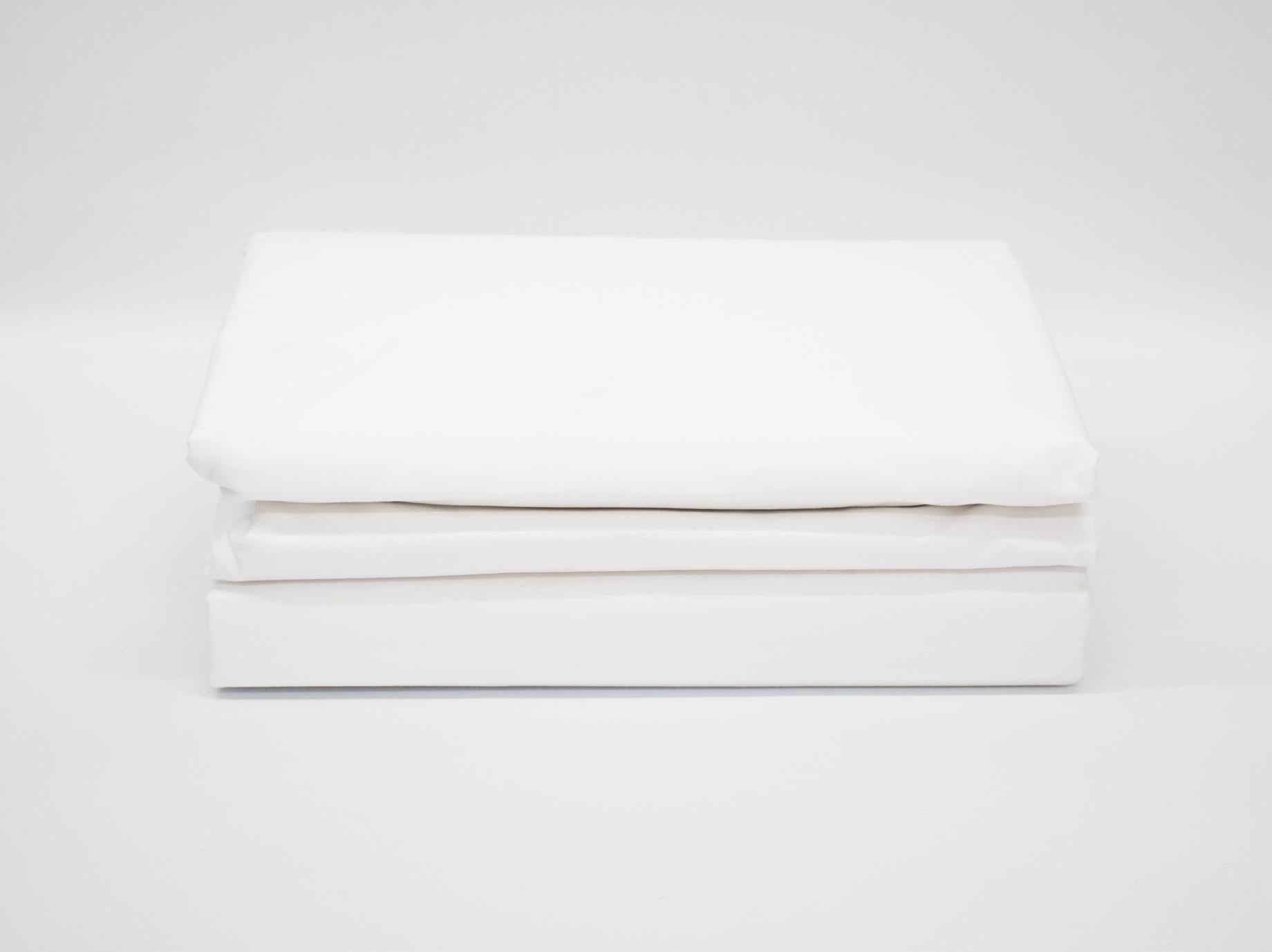 QUEEN 180TC PERCALE DUVET COVER WHITE
