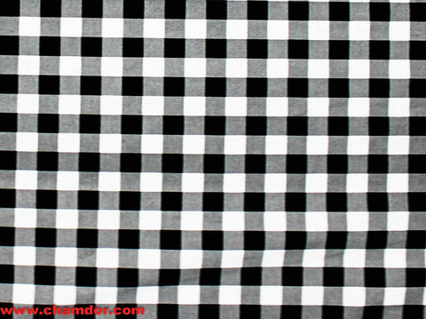 235cm GINGHAM CHECK TABLING BLACK