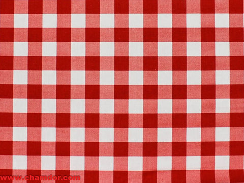 235cm GINGHAM CHECK TABLING RED