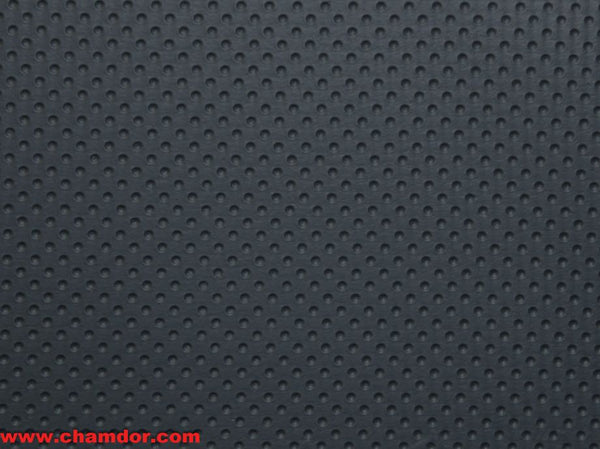 137cm DOTTED LEATHER DARK GREY UP340-1