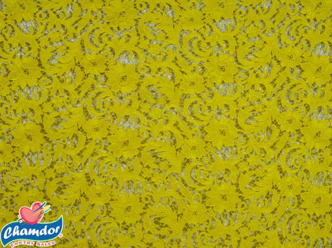 130cm CHEMICAL LACE YELLOW