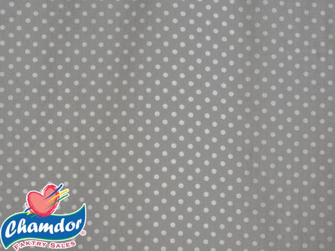 240cm DOTS COTTON CURTAINING GREY
