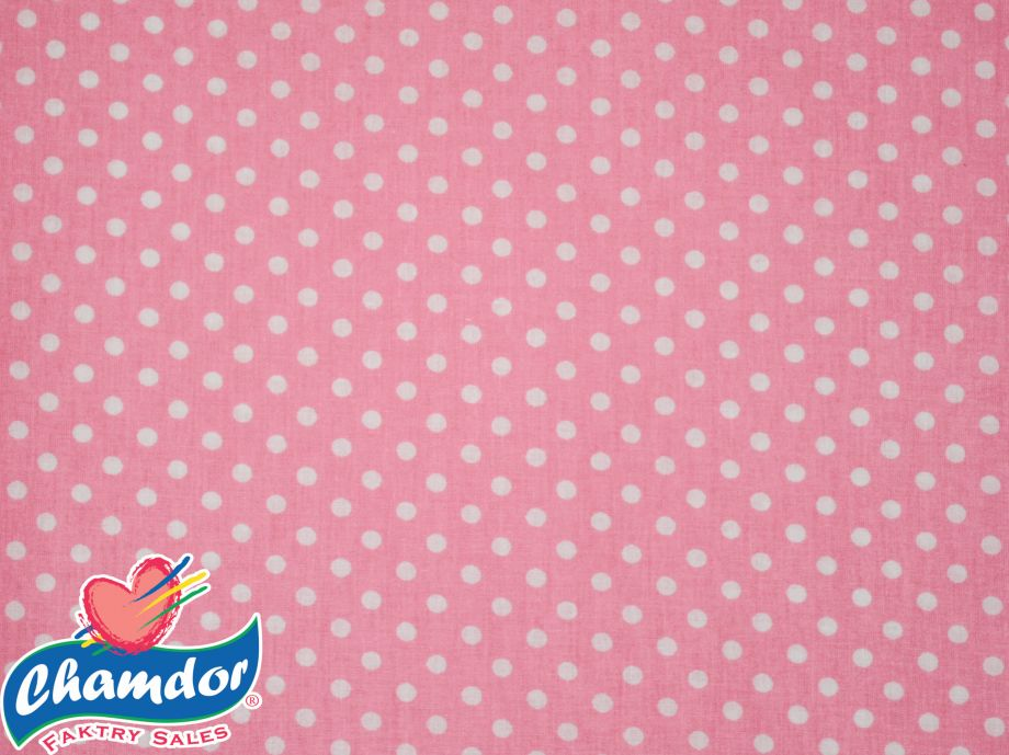 240cm DOTS COTTON CURTAINING PINK
