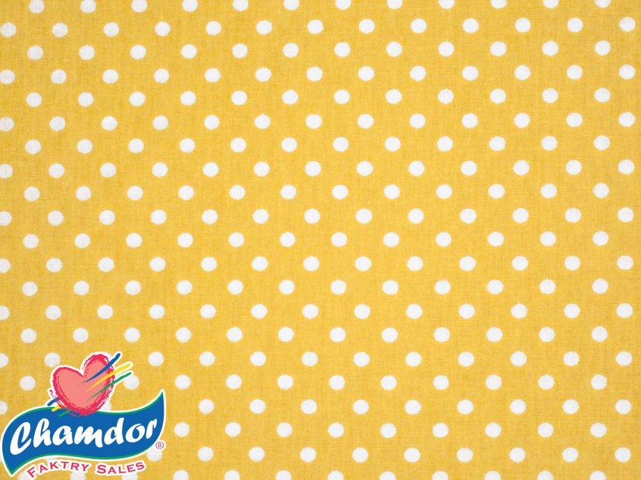 240cm DOTS COTTON CURTAINING YELLOW