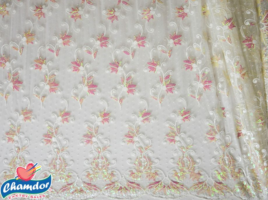 130cm EMBROIDED BRIDAL LACE