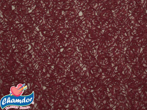 130cm EMBROIDED CORDED LACE MAROON
