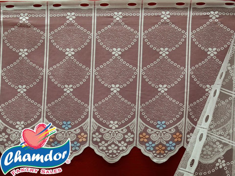 90CM PRINTED DUTCH LACE CREAM