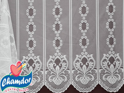 90CM PLAIN DUTCH LACE WHITE