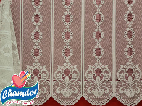 120CM PLAIN DUTCH LACE CREAM